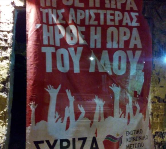 Affiche Syriza © Brian Janssen