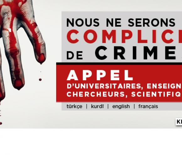 Appel Nous ne serons pas complices de crimes