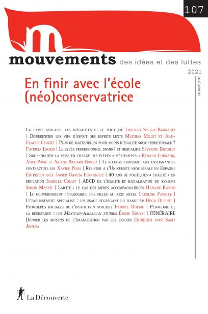 En finir avec l'école (néo)conservatrice - Revue Mouvements numéro 107